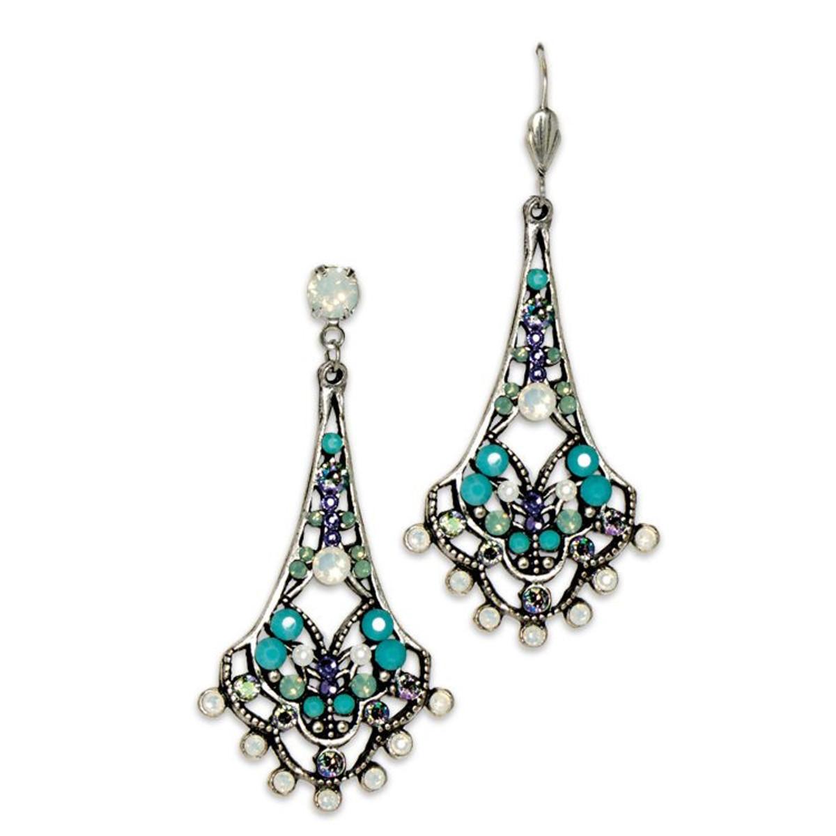 Anne Koplik White Opal Belle Epoch Earrings