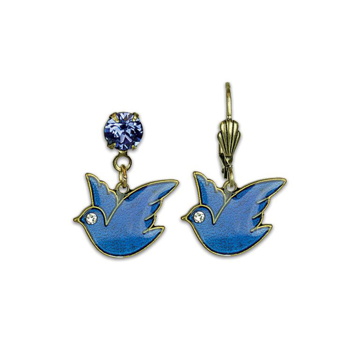 Anne Koplik Blue Bird Earrings