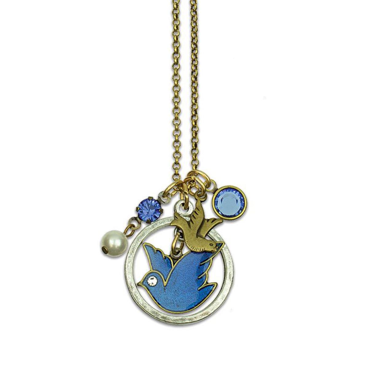 Anne Koplik Blue Bird Necklaces