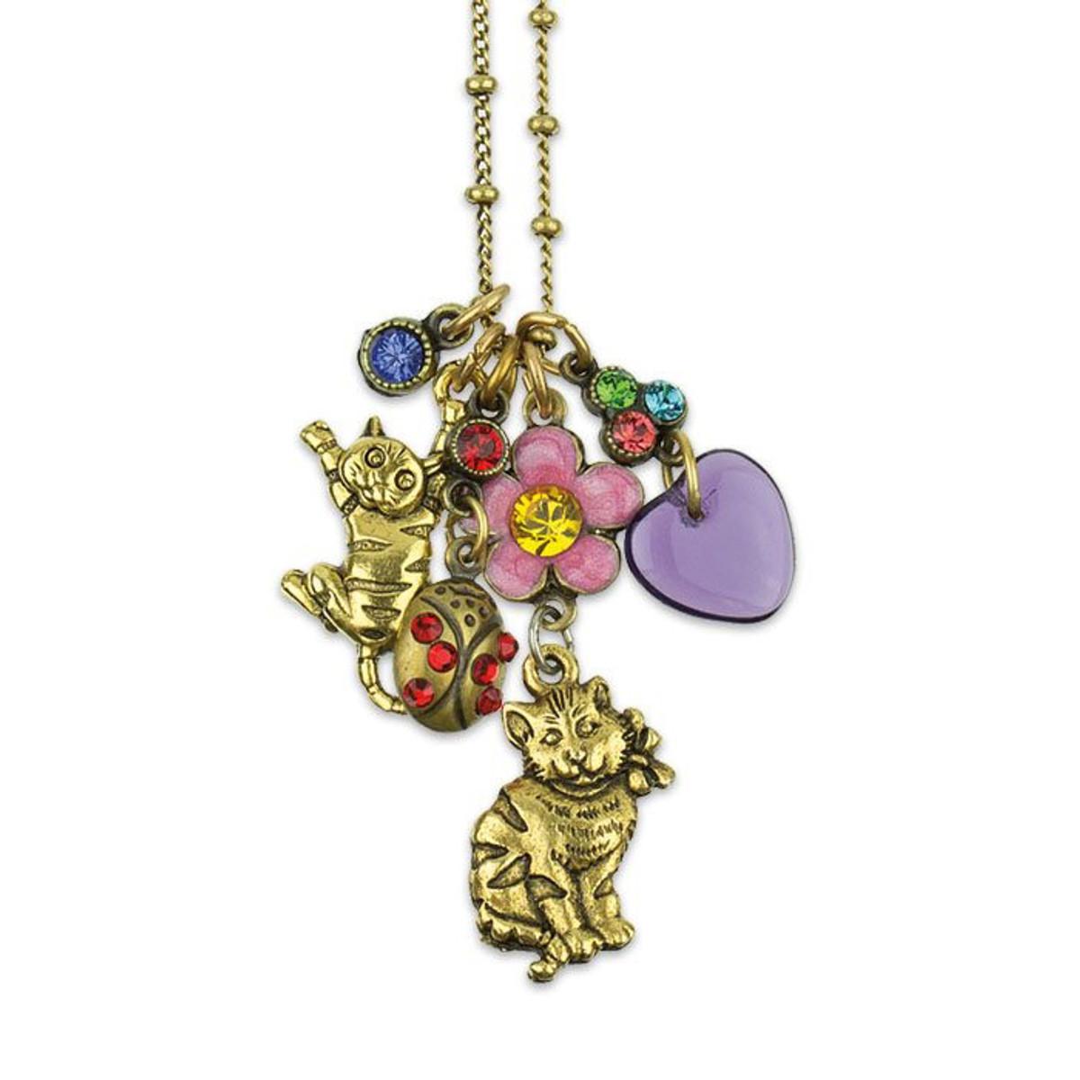 Loving My Cat Jumble Charm Necklace