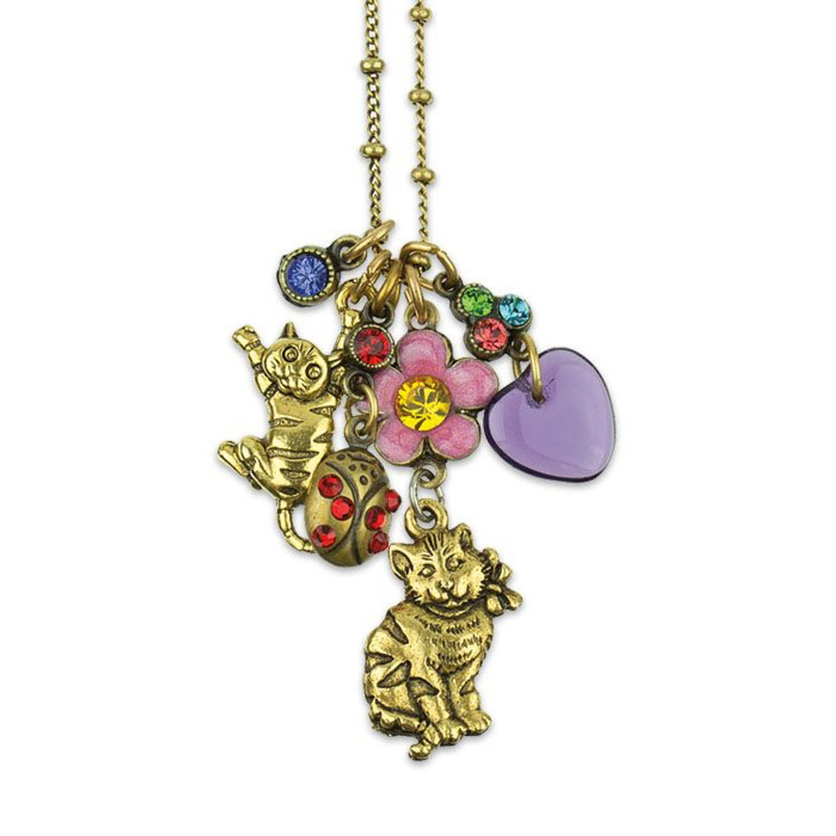 Loving My Cat Jumble Charm Necklace