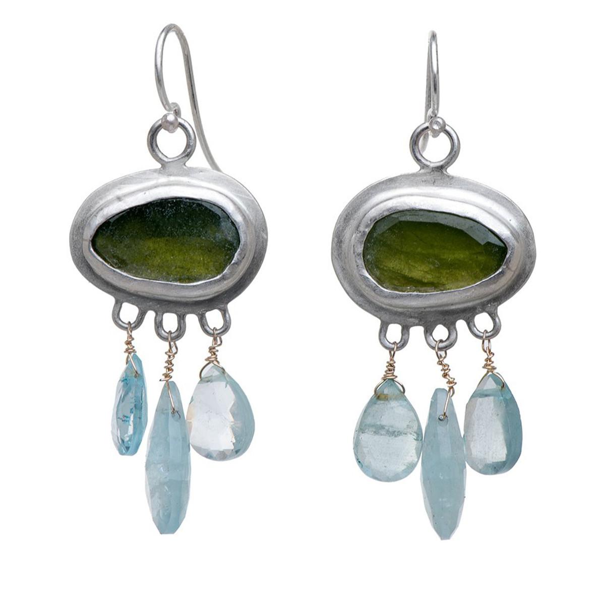 Nava Zahavi Silver Nature Fields Earrings