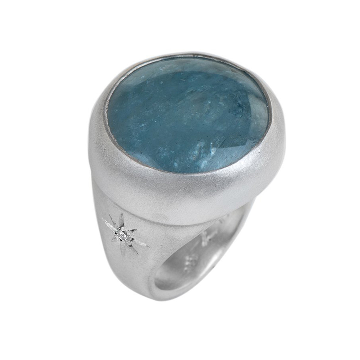 Nava Zahavi Silver Whispering Sea Ring
