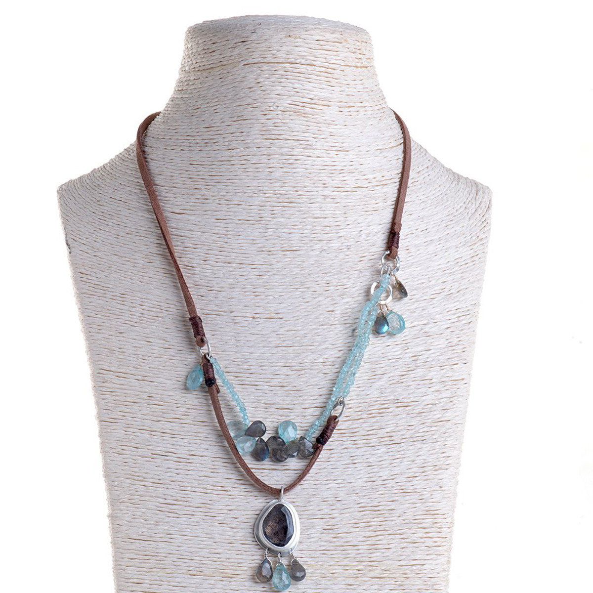 Nava Zahavi Silver Heart Beat Necklace