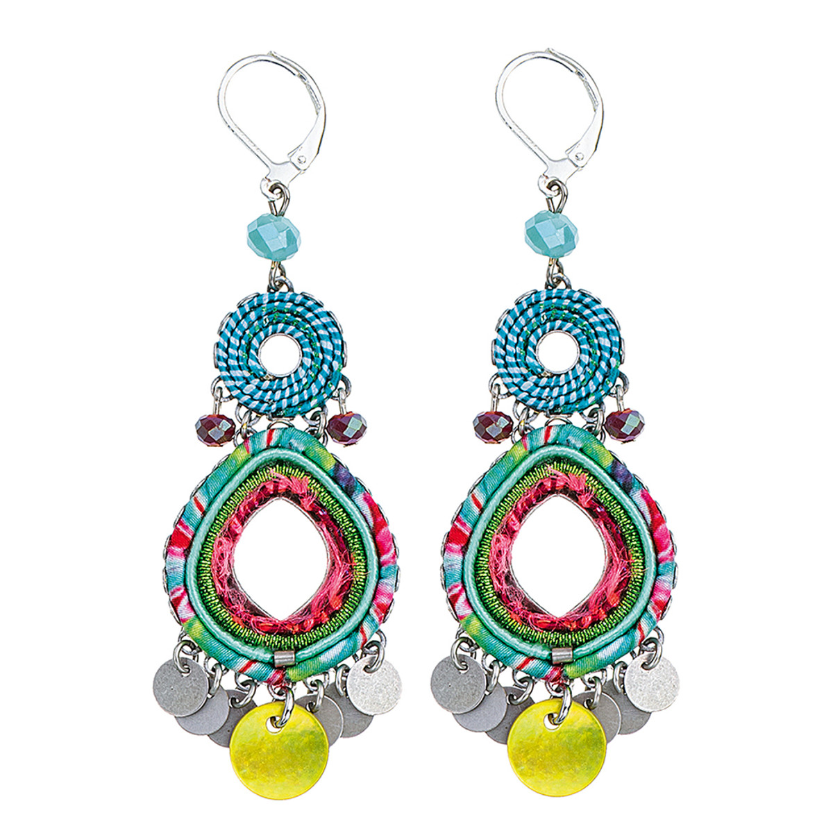 Ayala Bar Shell Beach Fruit Salad Earrings
