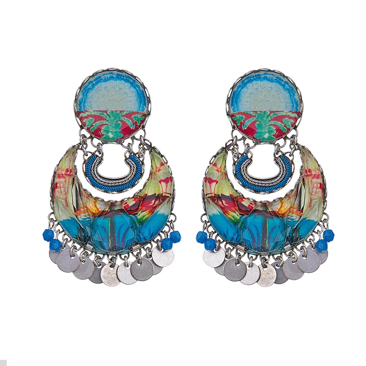 Ayala Bar Clear Coast Half Moon Earrings