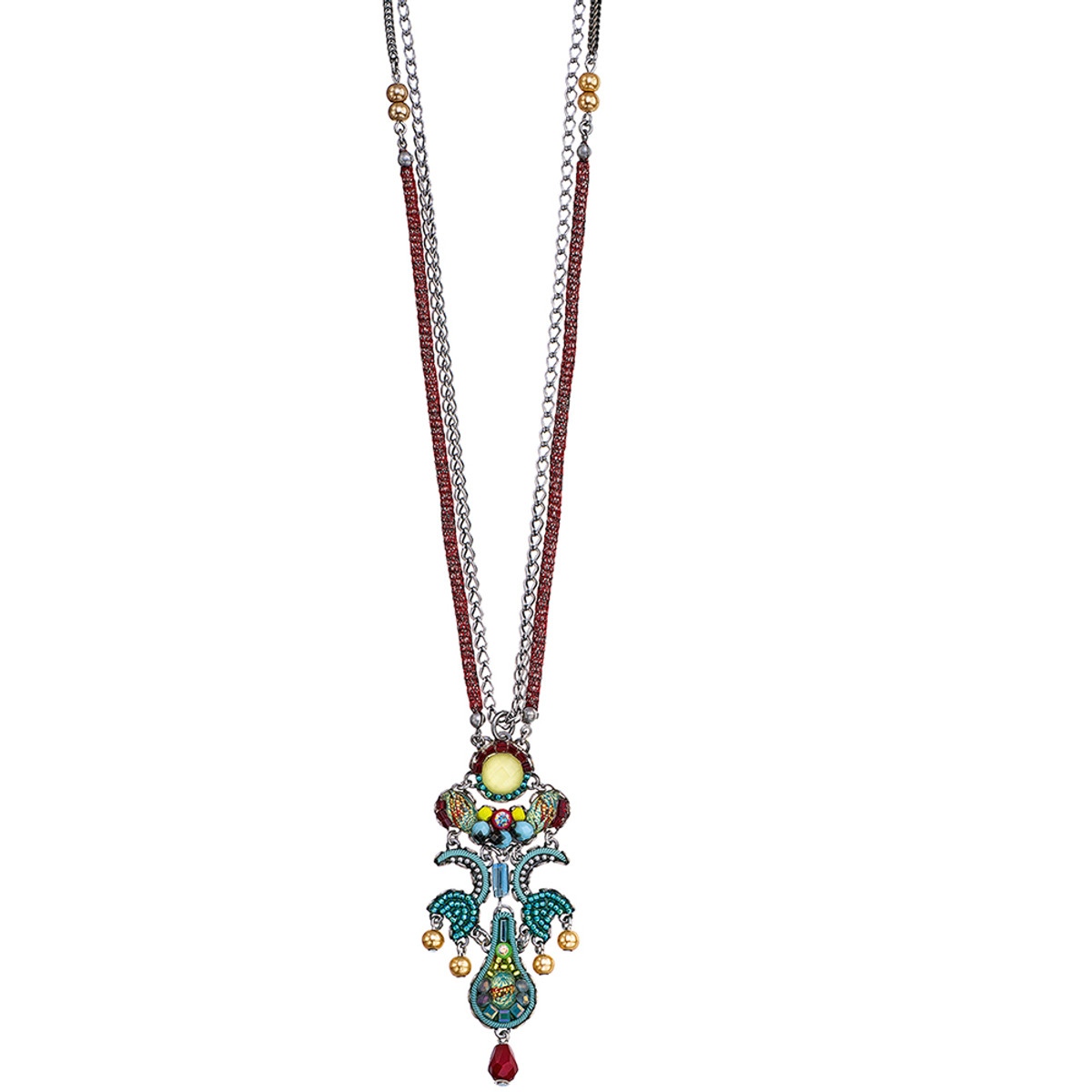 Ayala Bar Turquoise Crown Long and Layered Necklace