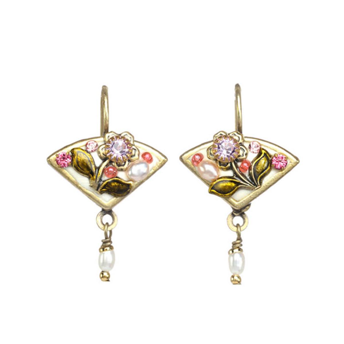 Michal Golan Pearl Blossom Alstro Earrings
