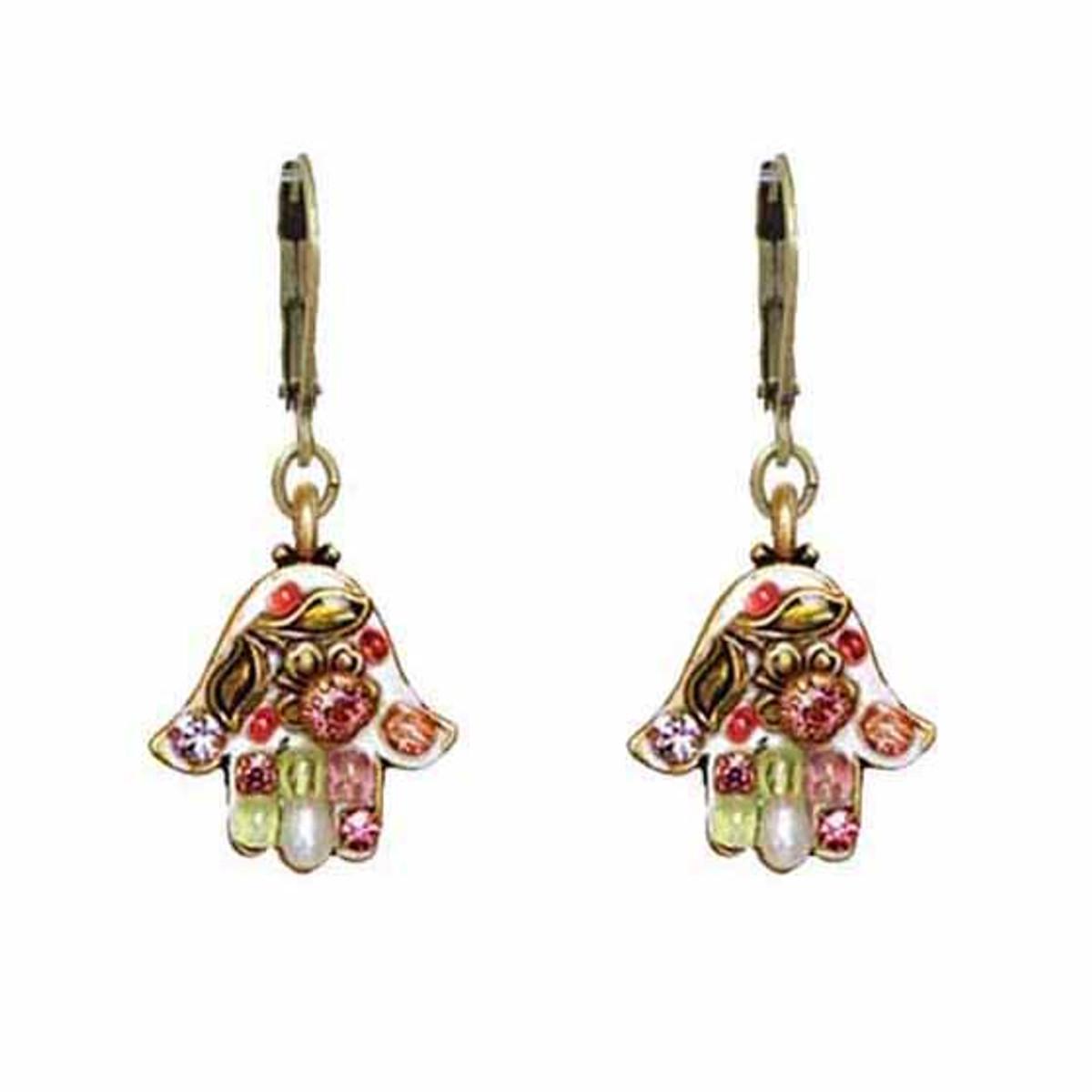 Michal Golan Pearl Blossom Hamsa Earrings