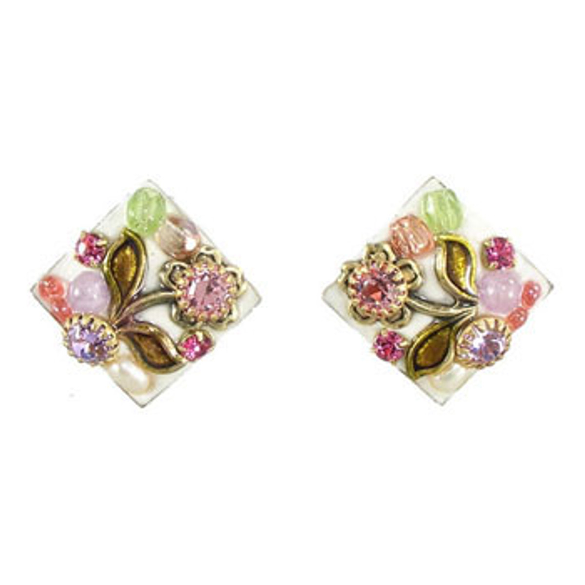 Michal Golan Pearl Blossom Tiny Diamond Earrings