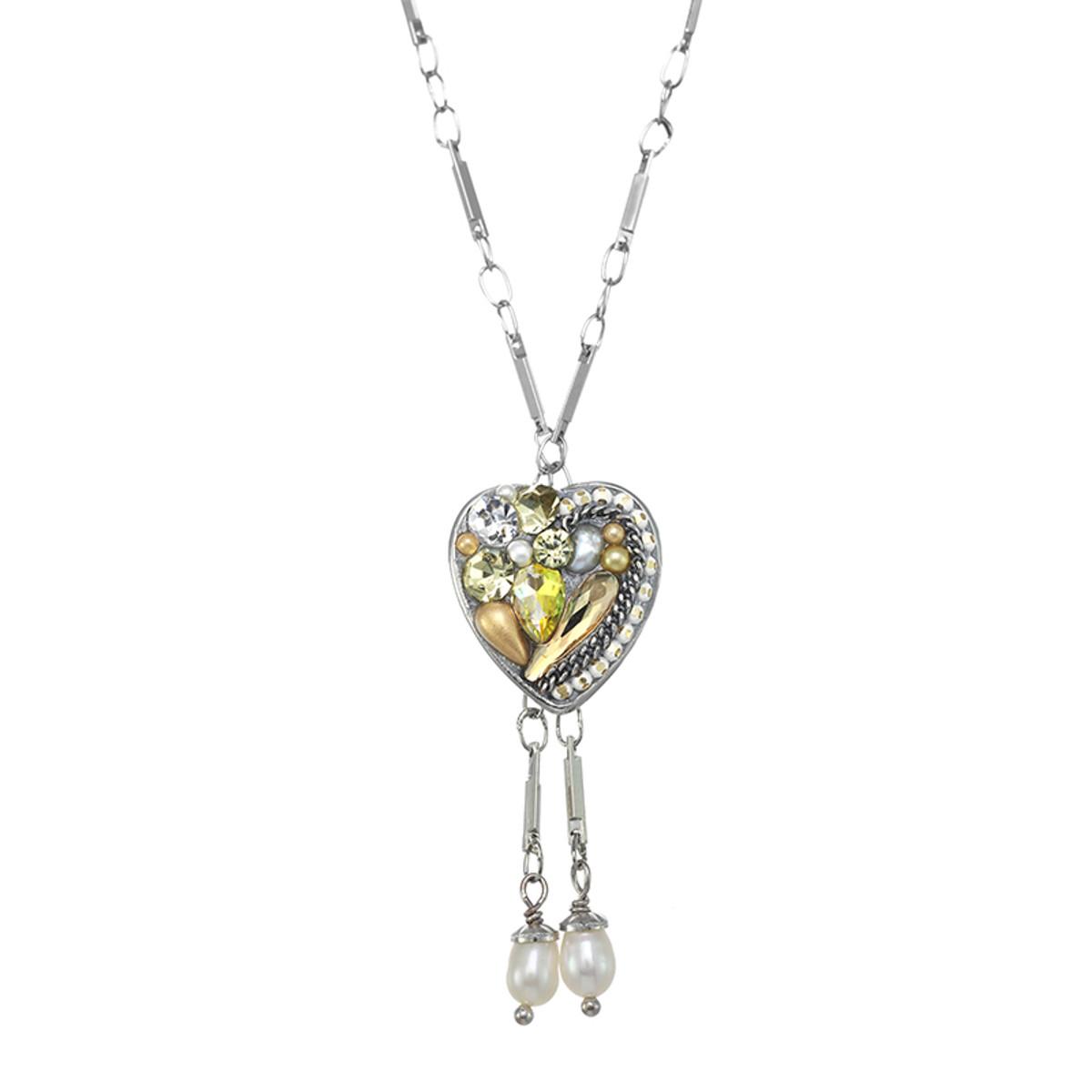 Michal Golan Moonlight Heart Dangling Necklace
