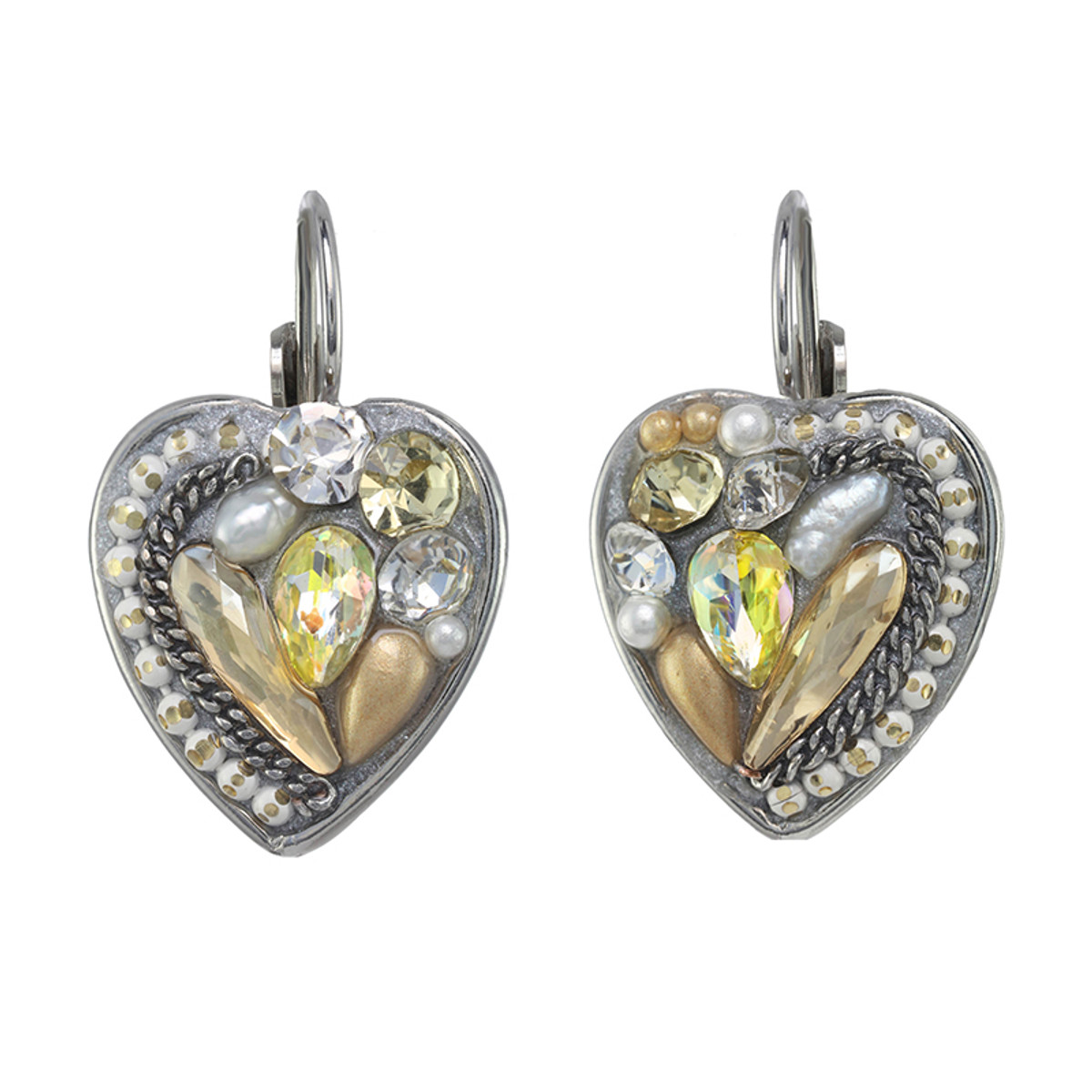 Michal Golan Moonlight Heart Earrings