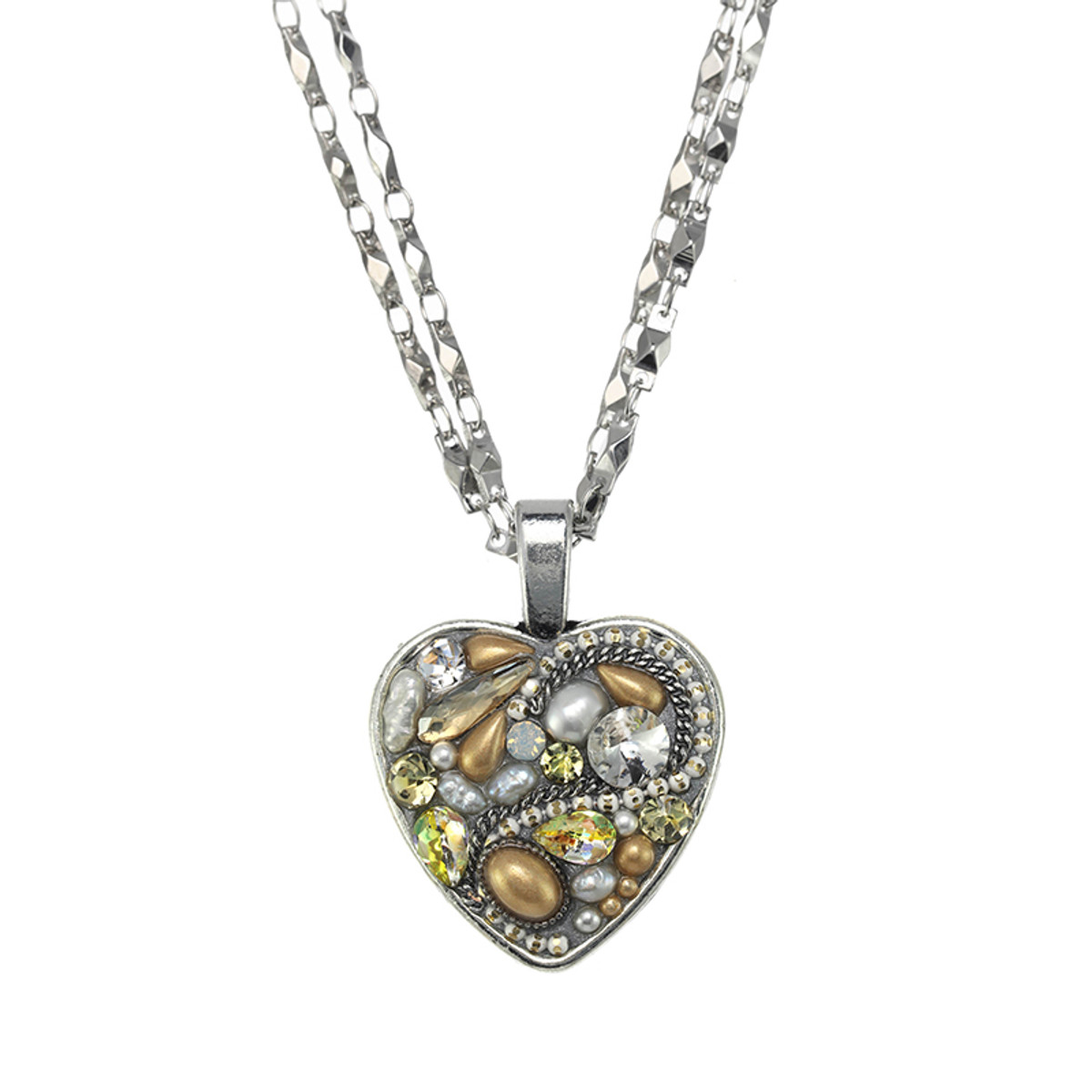 Michal Golan Moonlight Heart Necklace