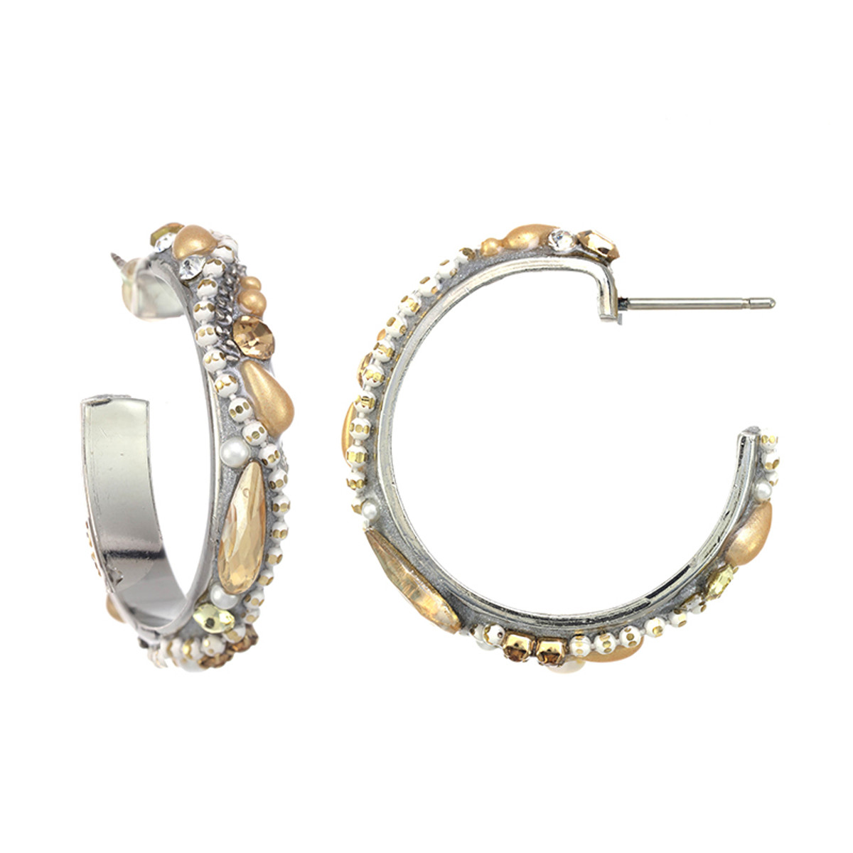 Michal Golan Moonlight Hoop Earrings