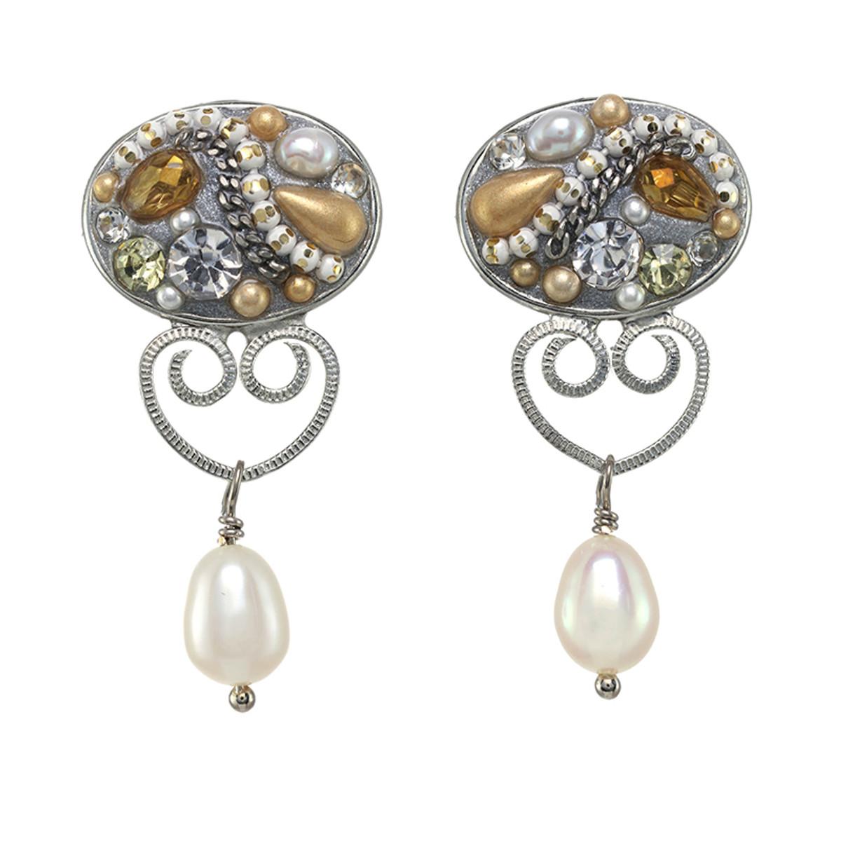 Michal Golan Moonlight Oval Dangling Earrings