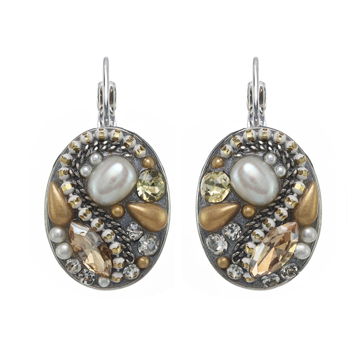 Michal Golan Moonlight Oval Earrings I