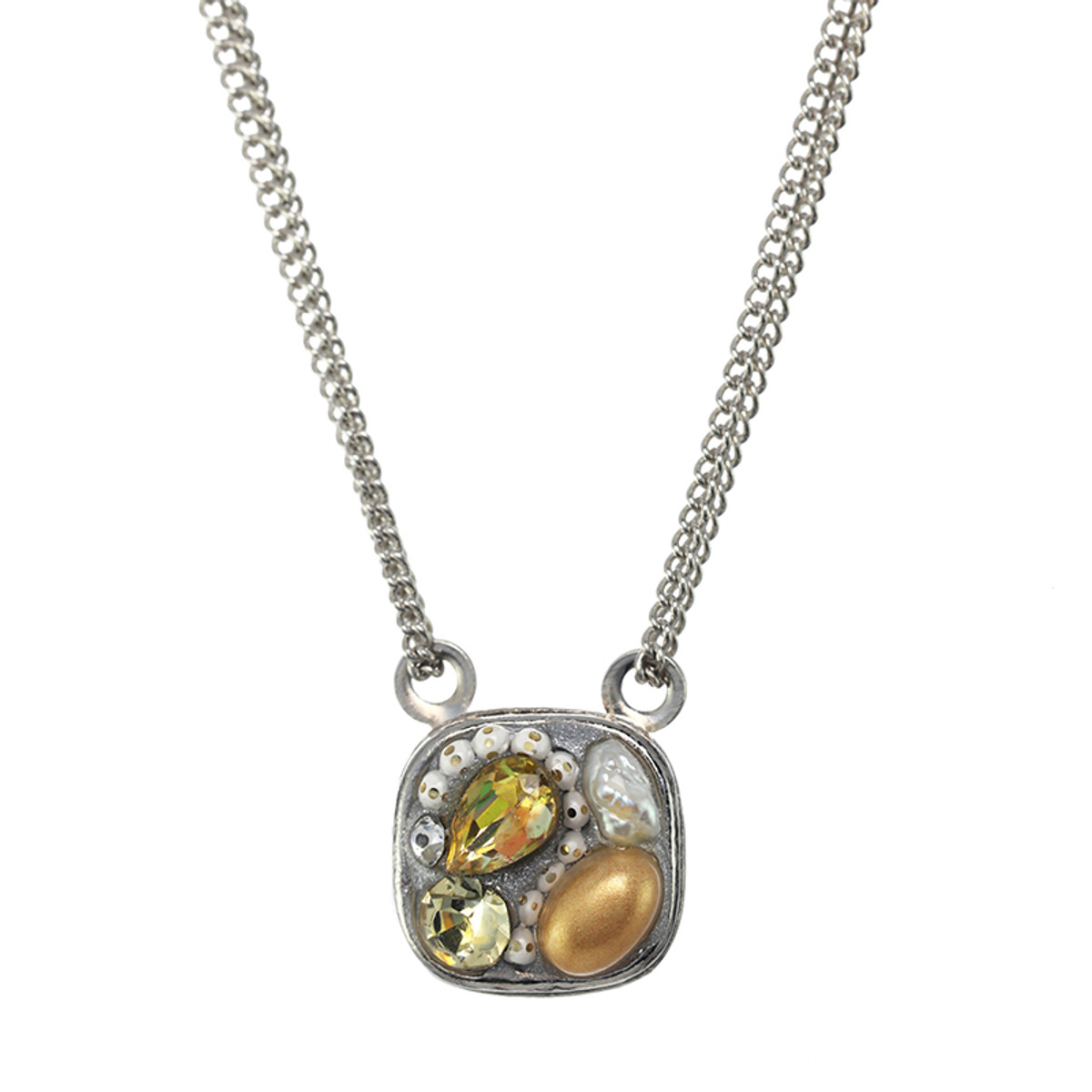 Michal Golan Moonlight Square Necklace