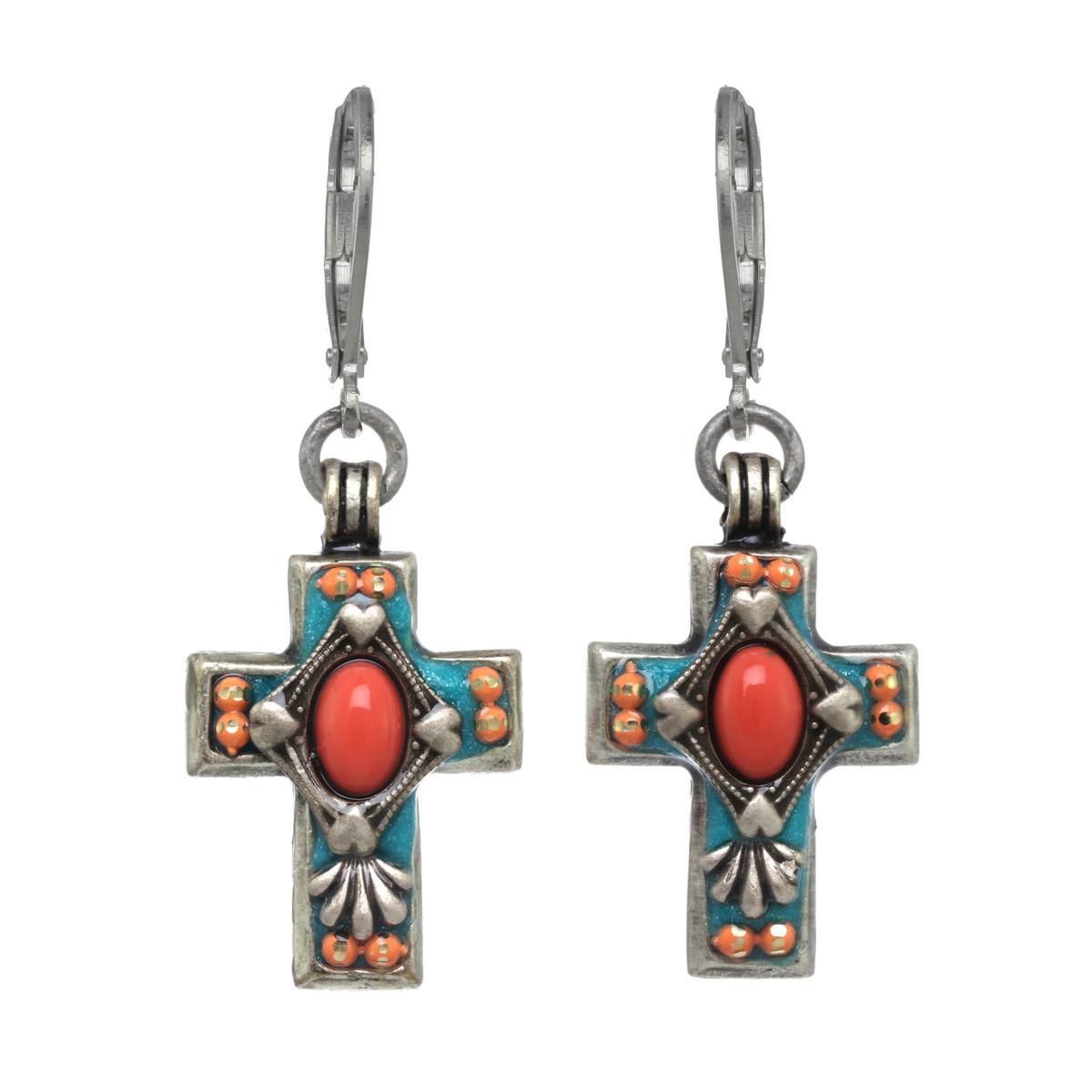 Michal Golan Aruba Cross Earrings