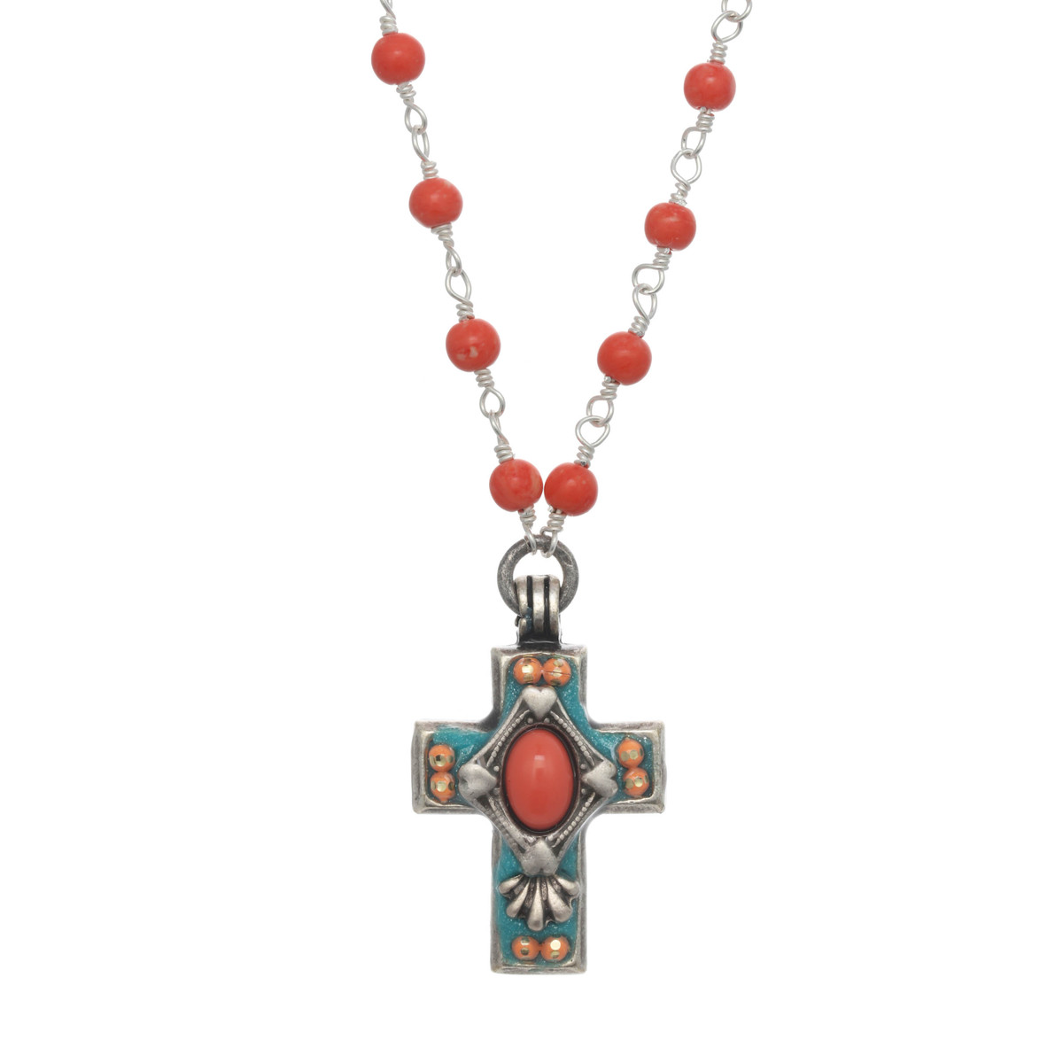 Michal Golan Aruba Cross Necklace