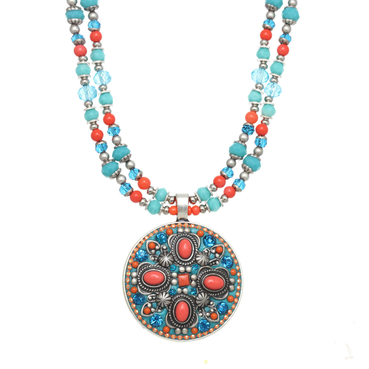 Michal Golan Aruba Large Circle Beaded Necklace