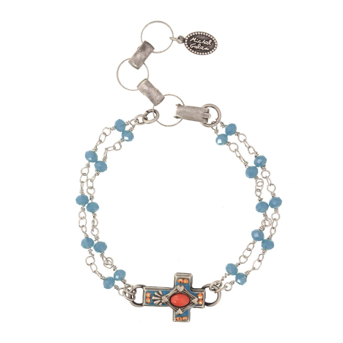 Michal Golan Aruba Cross Bracelet