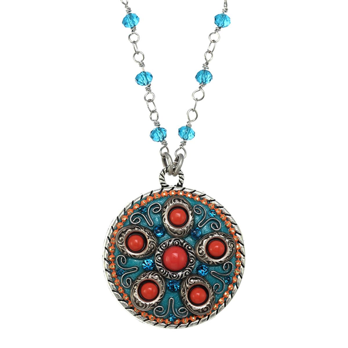 Michal Golan Aruba Medallion Necklace