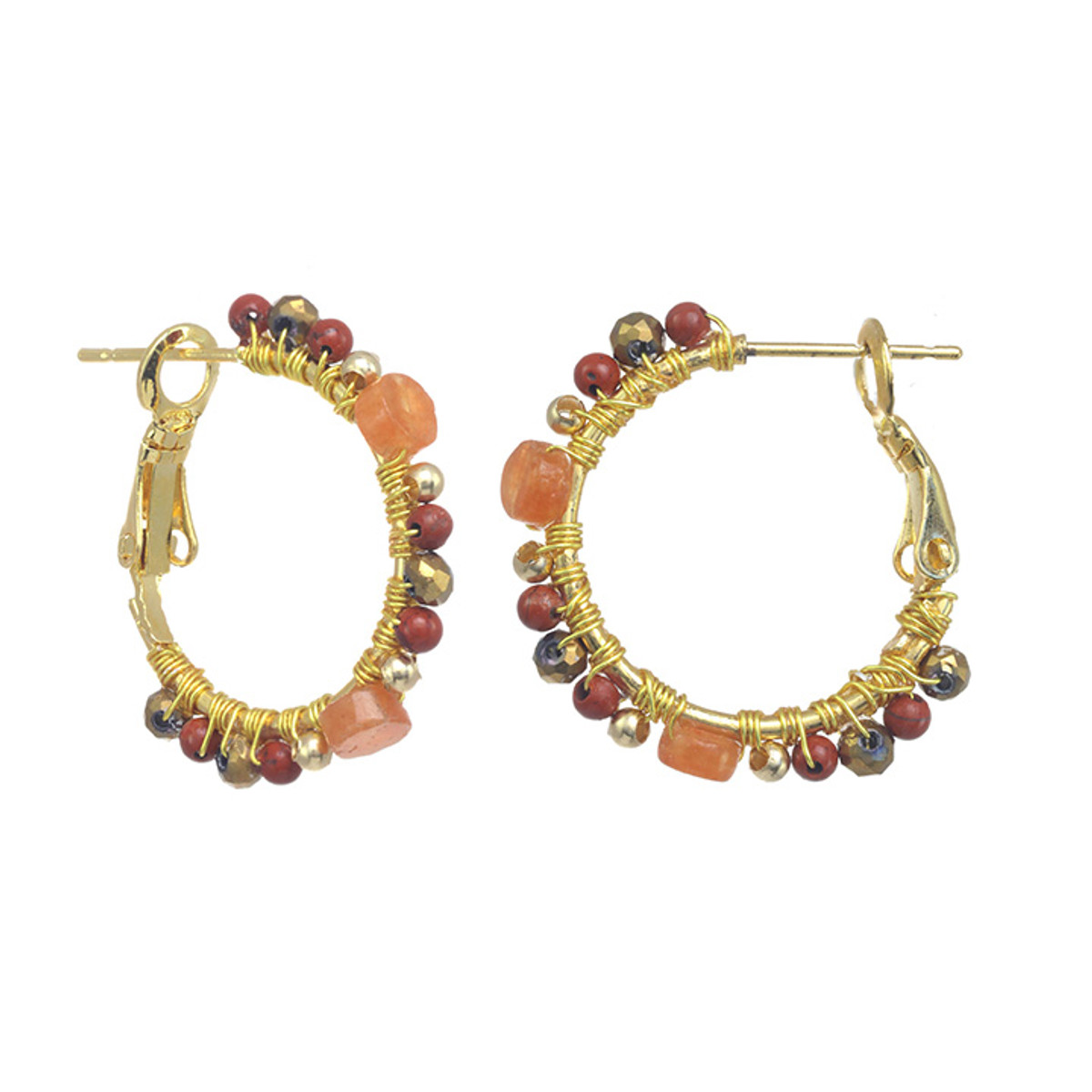 Michal Golan Champagne Mini Hoop Earrings