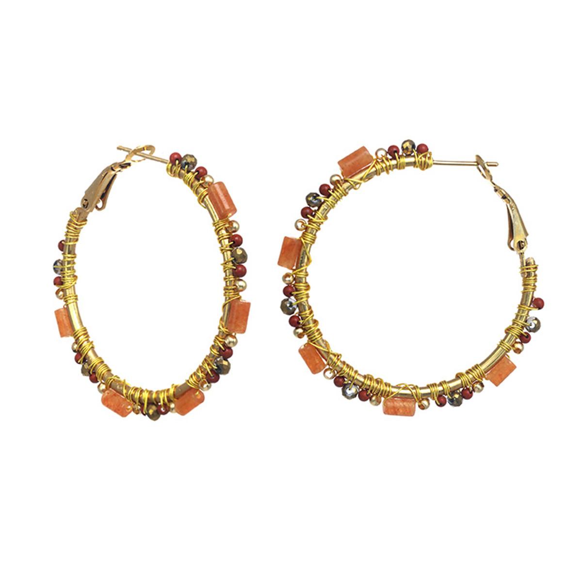Michal Golan Cider Hoop Earrings