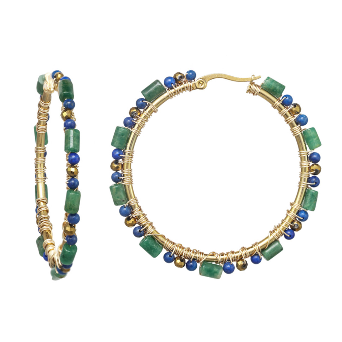 Michal Golan Evergreen Hoop Earrings