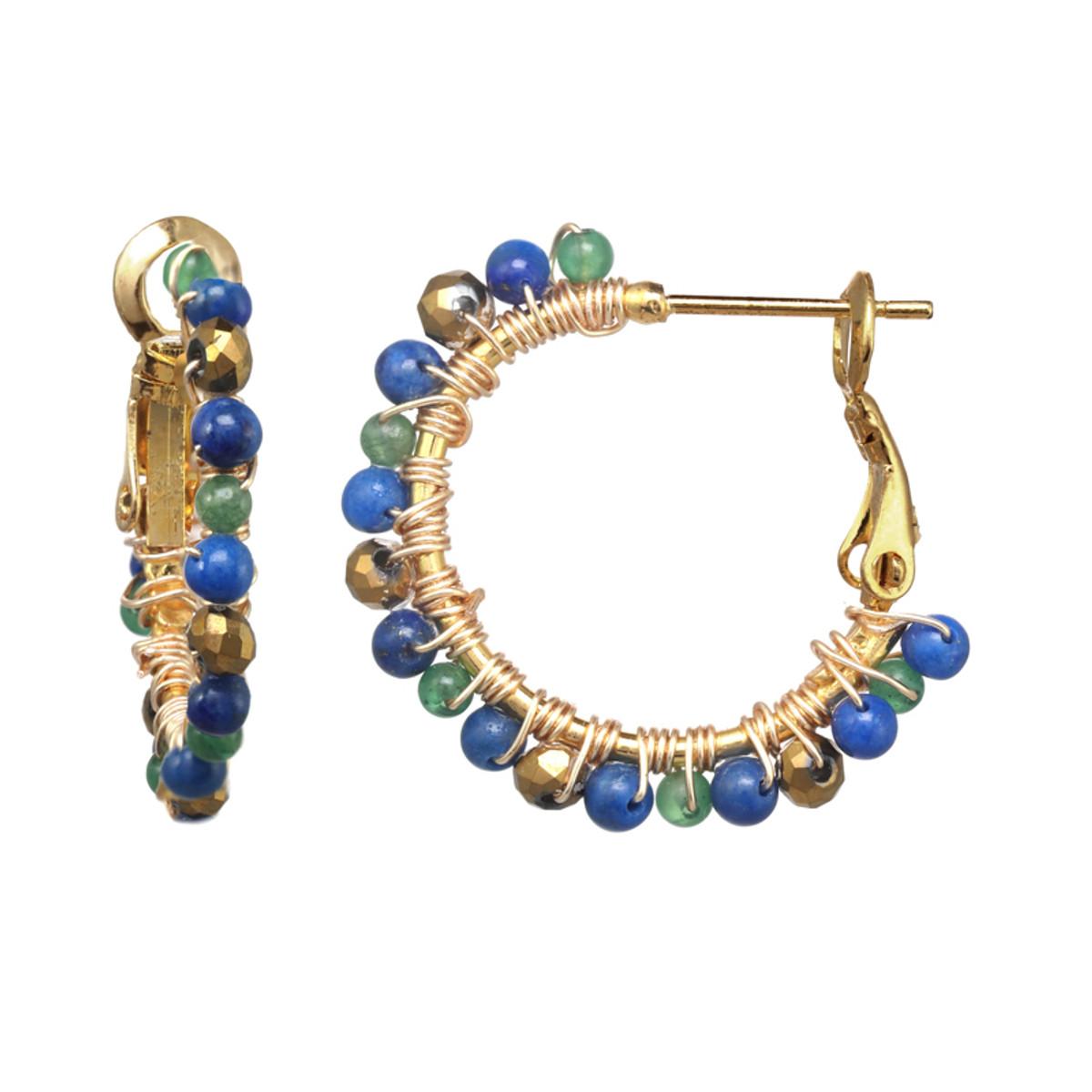 Michal Golan Evergreen Mini Hoop Earrings