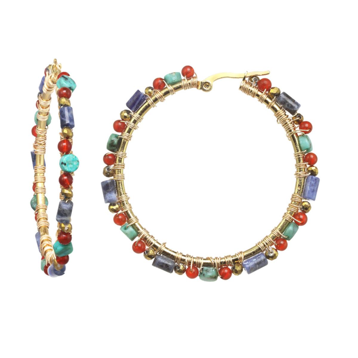 Michal Golan Harvest Moon Hoop Earrings
