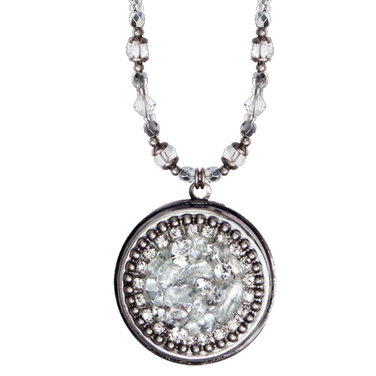 Michal Golan Icy Dreams Circle Locket Necklace