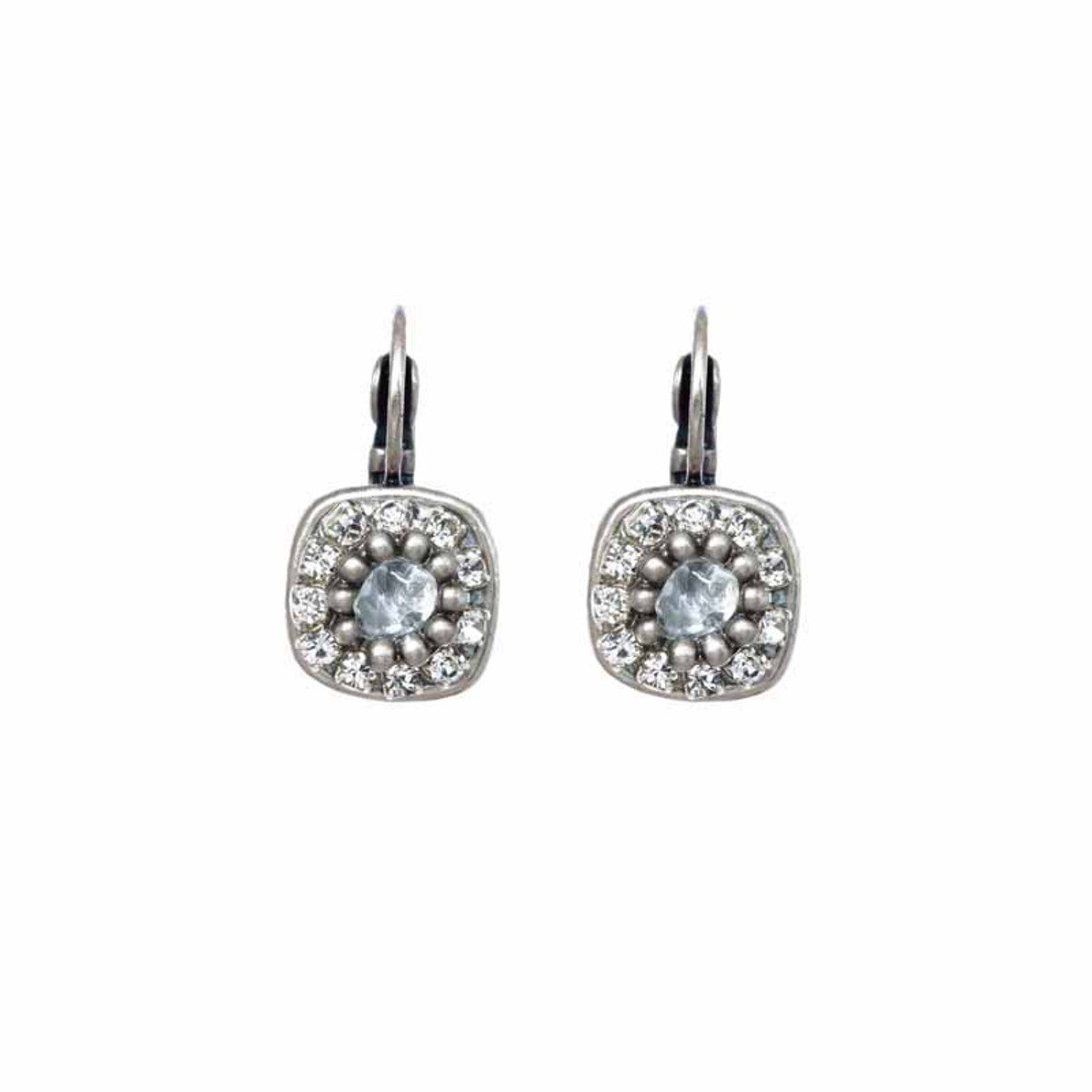 Michal Golan Icy Dreams Tiny Square Earrings