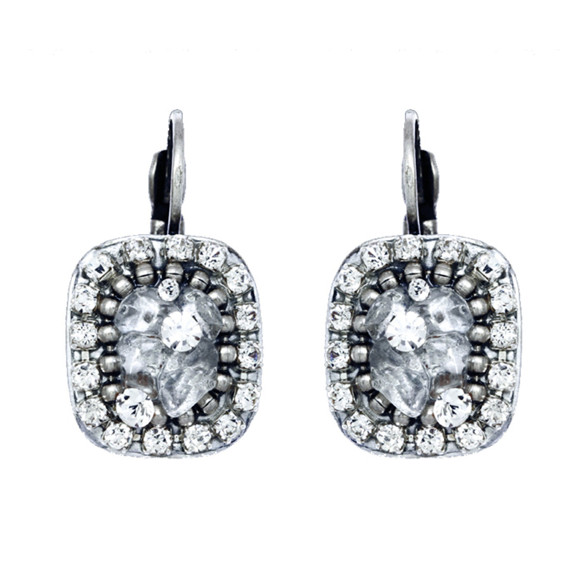 ichal Golan Icy Dreams Square Lever Earrings