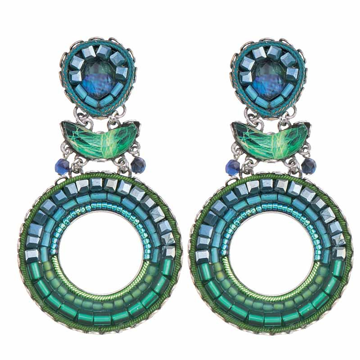 Ayala Bar Green River Water Hole Earrings