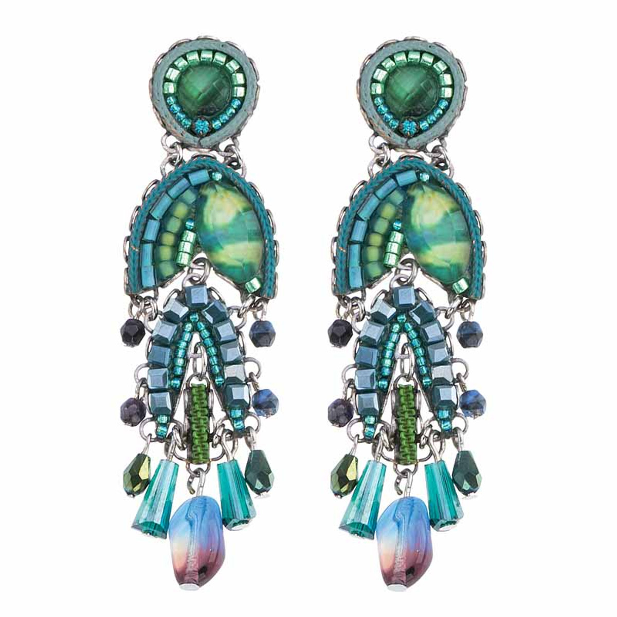 Ayala Bar Green River Rainfall Earrings