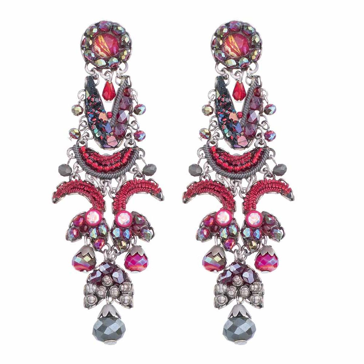 Ayala Bar Crimson Flame Red Cardinal Earrings