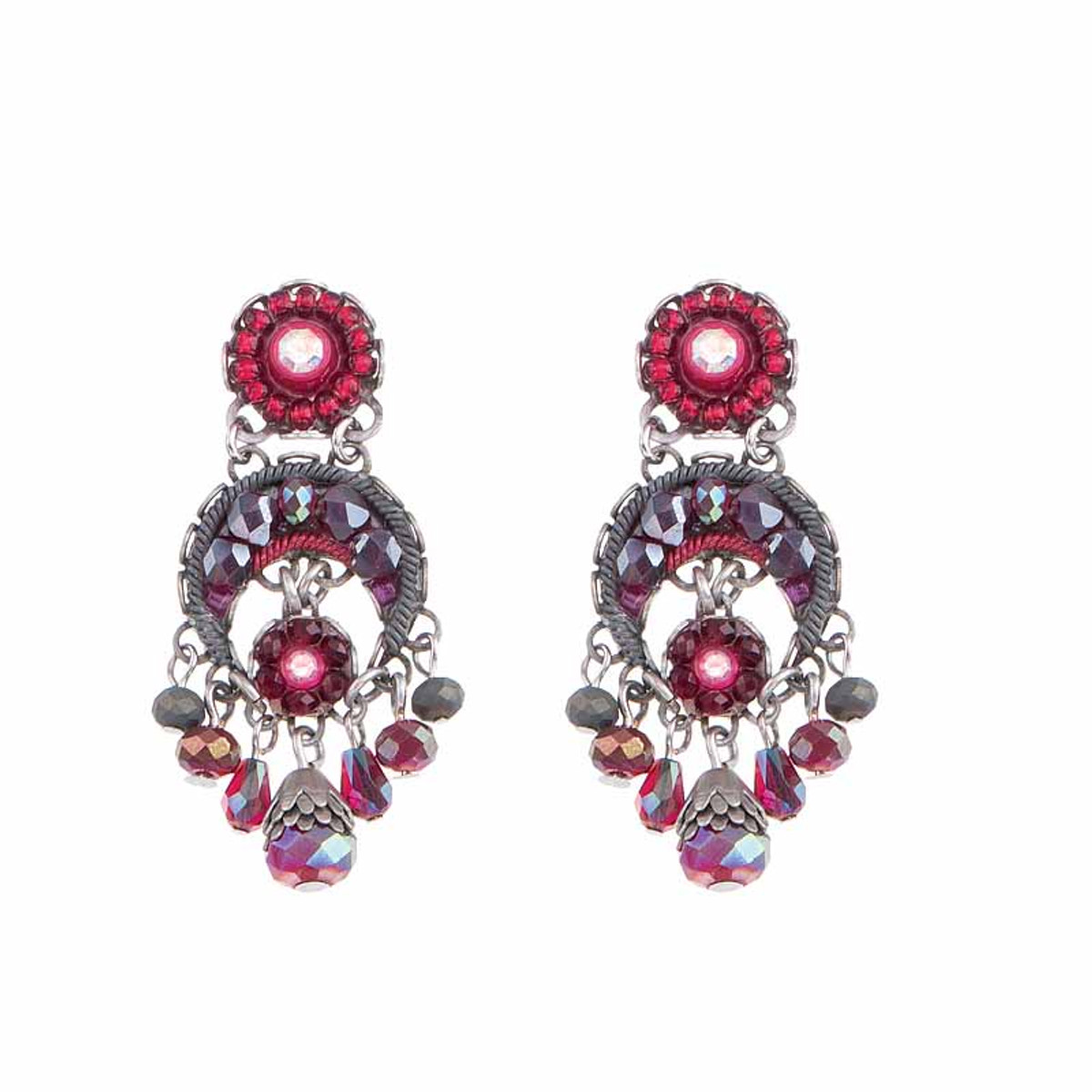 Ayala Bar Crimson Flame Blood Moon Earrings