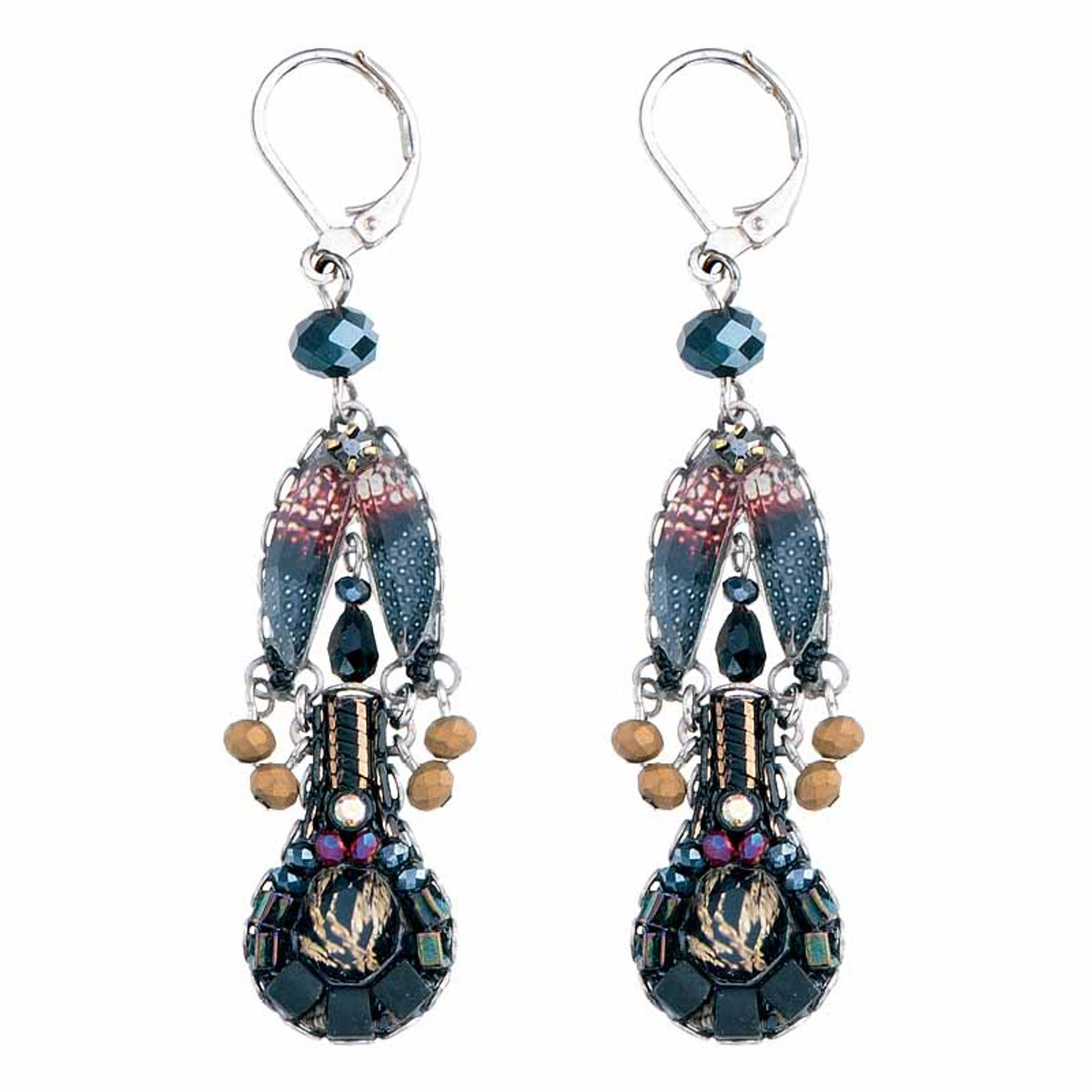 Ayala Bar Moon Jet French Wire Earrings