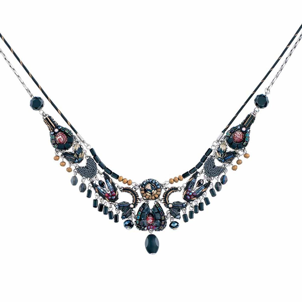 Ayala Bar Moon Jet Black Bear Necklace