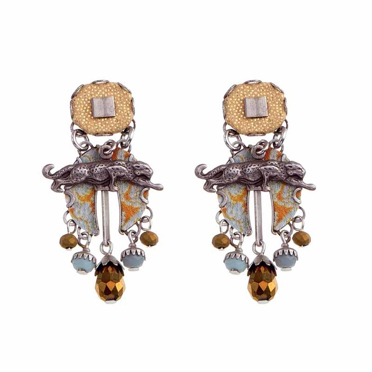 Ayala Bar Sgt Pepper Desert Jaguar Earrings