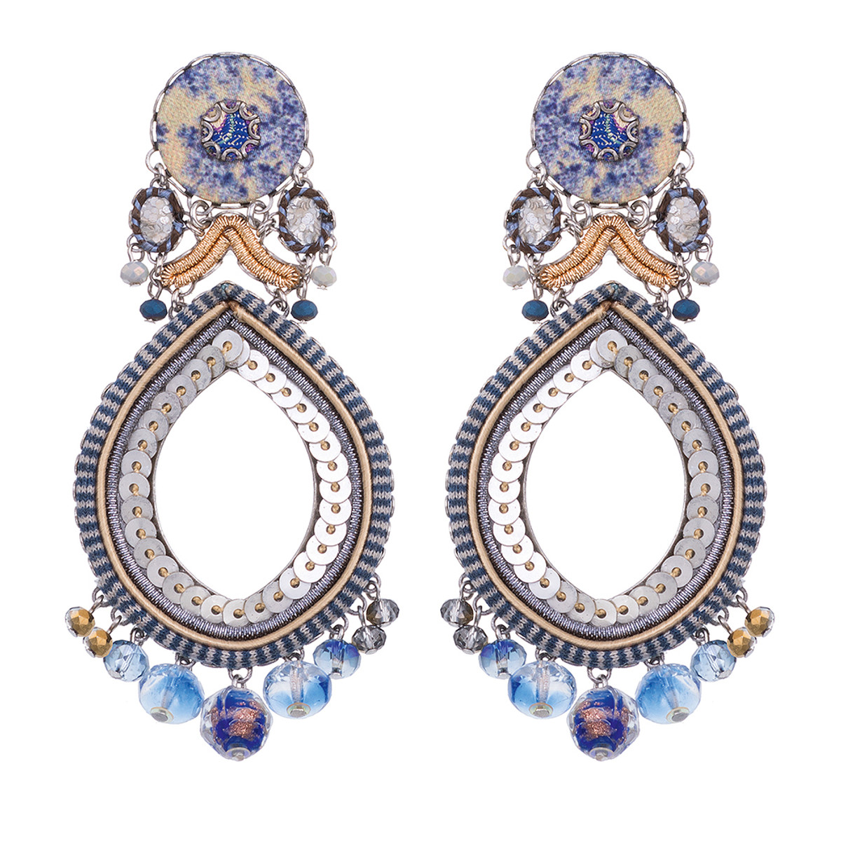Ayala Bar Sapphire Waves Chakra Earrings