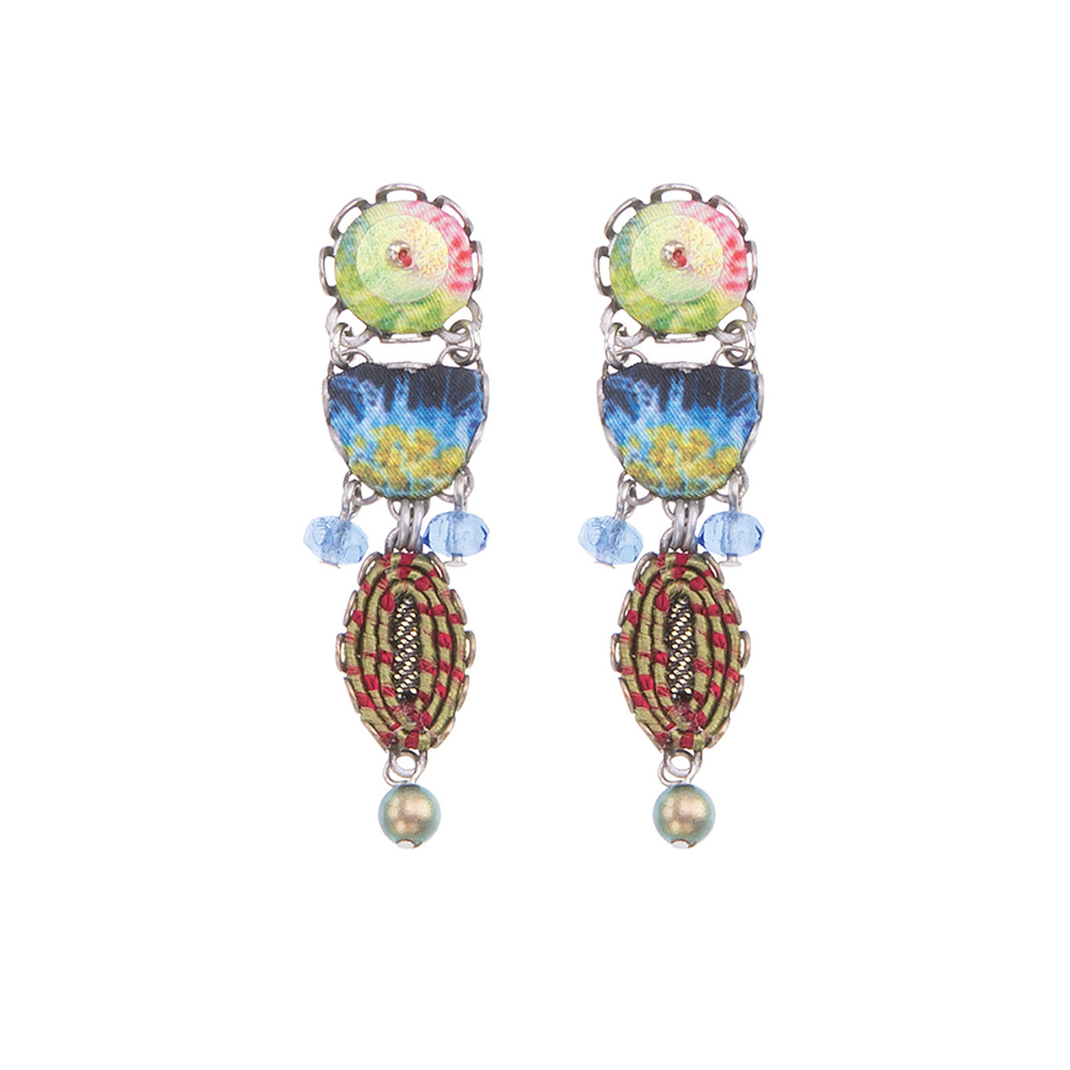 Ayala Bar Fiesta Green Watercolor Earrings
