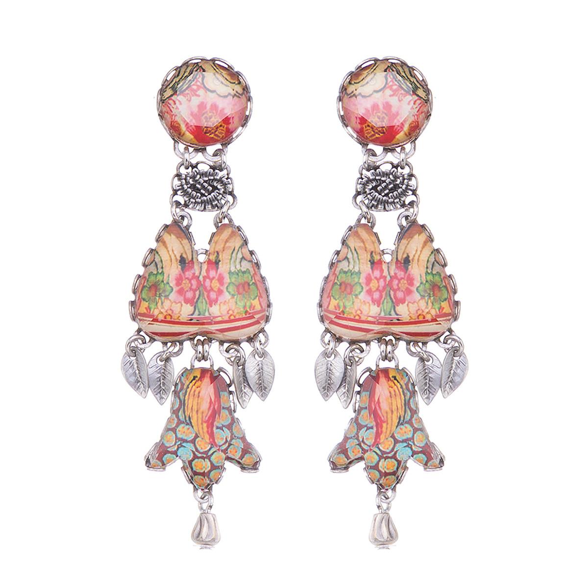 Ayala Bar Coral Cave Turkish Rug Earrings