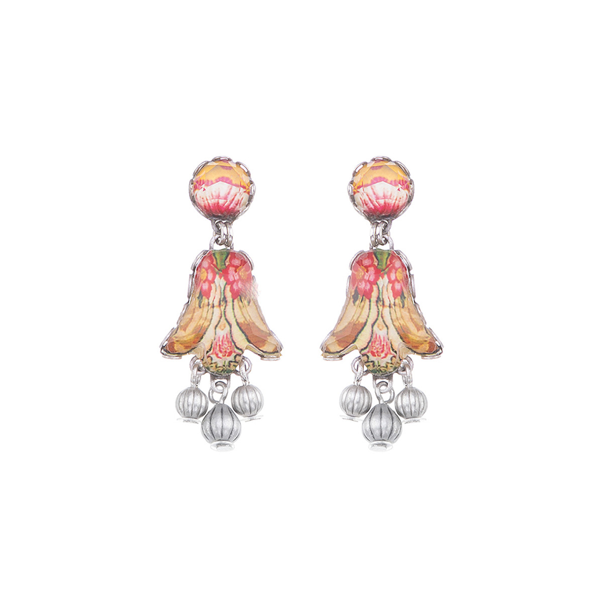 Ayala Bar Coral Cave Tiger Lilly Earrings