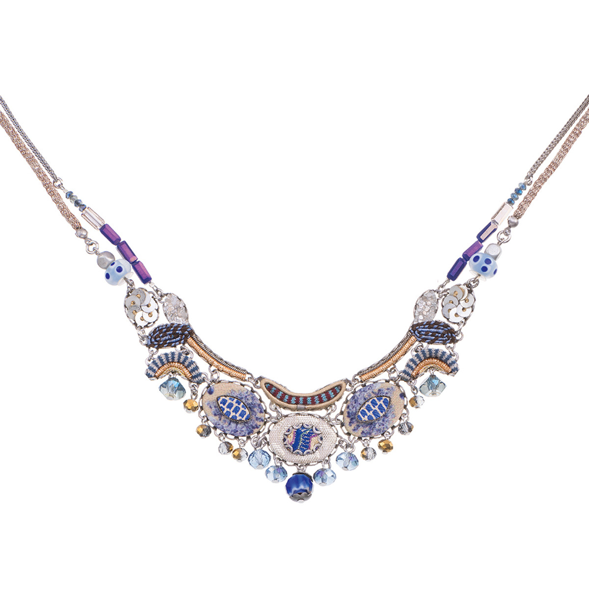 Ayala Bar Sapphire Waves Pufferfish Necklace