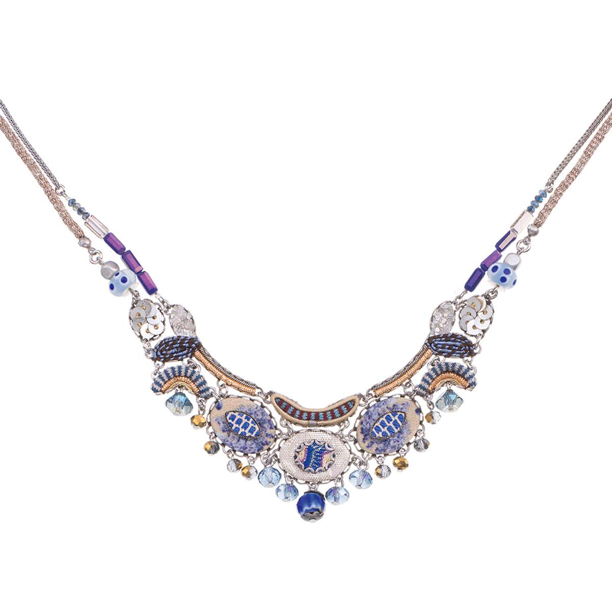 Ayala Bar Sapphire Waves Pufferfish Necklace