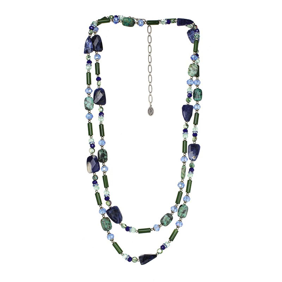 Michal Golan Lake Como Long Beaded Layered Necklace