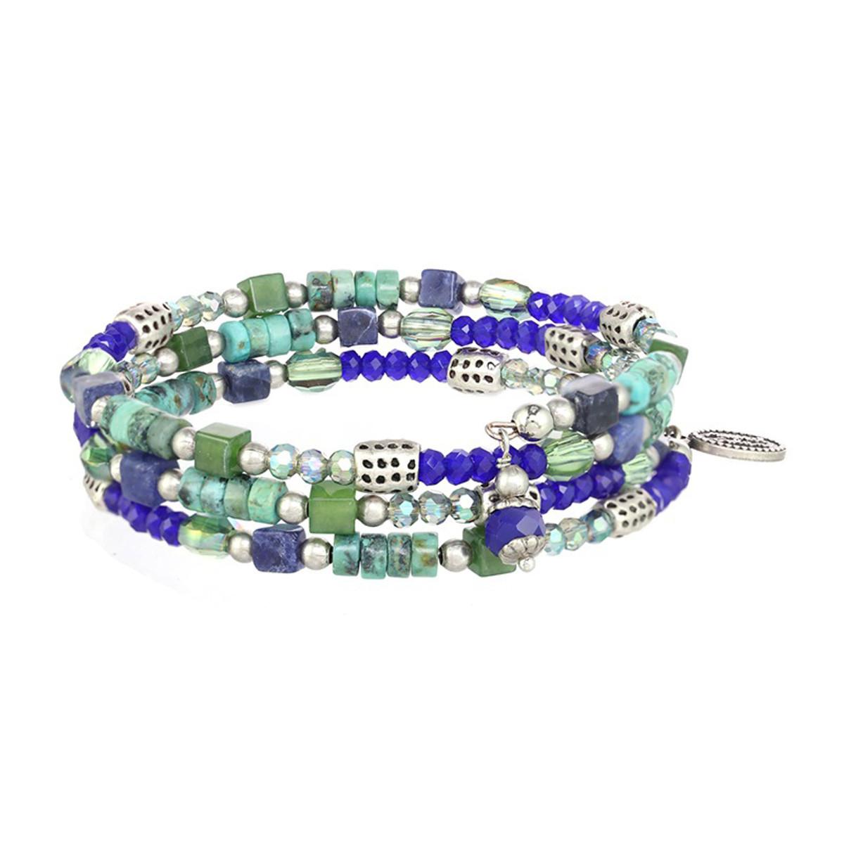 Michal Golan Lake Como Thin Wrap Beaded Bracelet