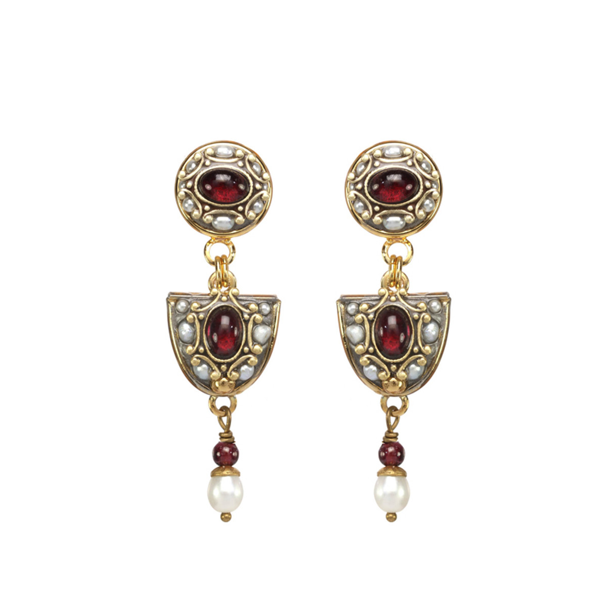 Michal Golan Victorian Arch Dangle Earrings